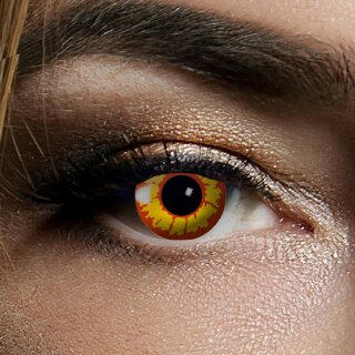 Kontaktlinsen Ork 3 Monate, Halloween Zombie Vampir, Gelb-Rot