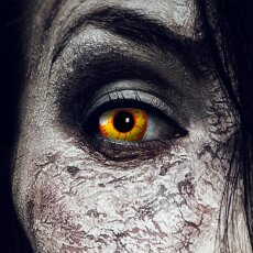 Kontaktlinsen Ork 3 Monate, Halloween Zombie Vampir,...