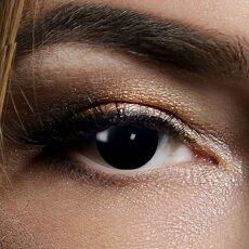 Farbig Schwarz Kontaktlinsen 3 Monate Blind Black Halloween Zombie Vampir