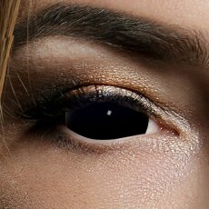 Kontaktlinsen Black Sclera 6 Monate, 22mm, Halloween...