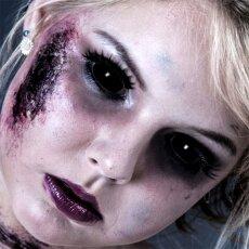 Kontaktlinsen Black Sclera 6 Monate, 22mm, Halloween Vampir Zombie