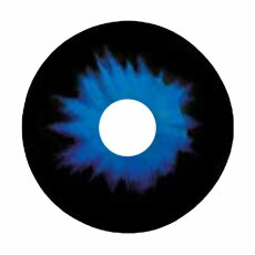 Kontaktlinsen Sclera Blue Demon 6 Monate, 22mm
