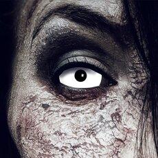 Kontaktlinsen White Zombie Sclera 6 Monate, Halloween...