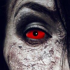 Kontaktlinsen Red Devil Sclera 6 Monate, 22mm Halloween,...