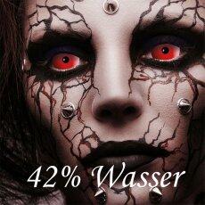 Kontaktlinsen Red Devil Sclera 6 Monate, 22mm Halloween, Vampir, Zombie