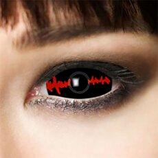 Kontaktlinsen Sclera Black Stich 6 Monate