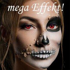 Kontaktlinsen Angelic Red 3 Monate, Halloween Zombie Vampir