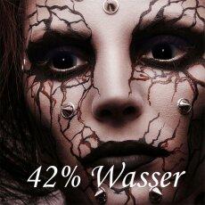 Kontaktlinsen Mini Sclera Black 6 Monate, 17 mm, Halloween Zombie Vampir Hexe