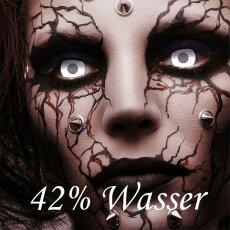 Kontaktlinse Blind White Visibal, 60% Deckkraft, 3 Monate, Zombie, Vampir