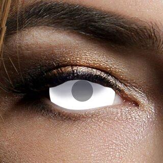 Kontaktlinse Sclera Blind White Visibal 6 Monate, 60% Deckkraft